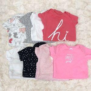 8 pack baby girl onesies